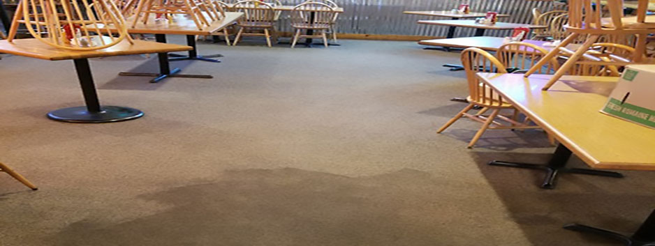Cleaning greasy restaurant commercial carpet