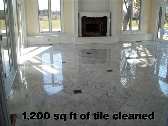JT's Carpet Cleaning cleans up marble tile in Kansas City
