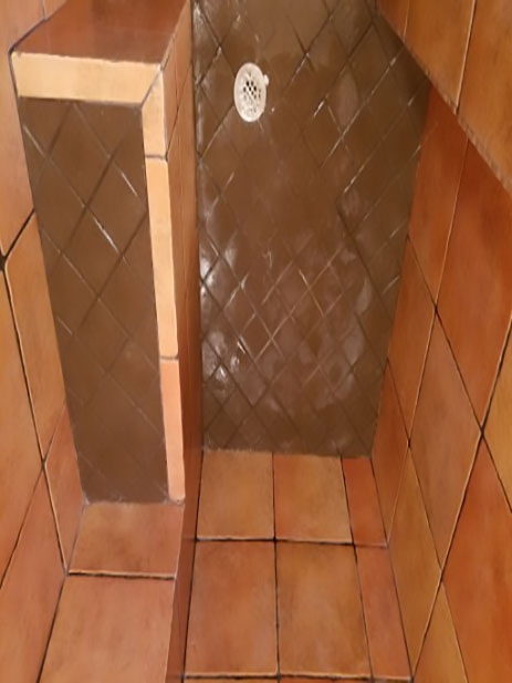 JT's Carpet Cleaning makes this tile shower look brand new again after removing hard water stains.